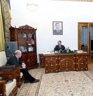 """Риад Хаддад с главным редактором журнала """"Мужская работа"""" Б. Абдуллаевым, 2013 г."""