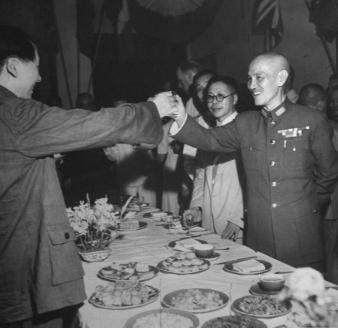 М.Цзэдун, Ч.Кайши. Сентябрь 1945 г.
