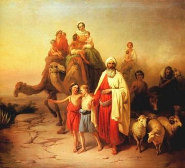 «Переселение Авраама». Й. Молнар. 1850 г.