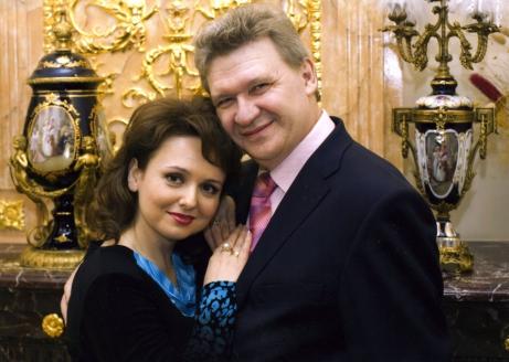 С мужем А. Цилинко