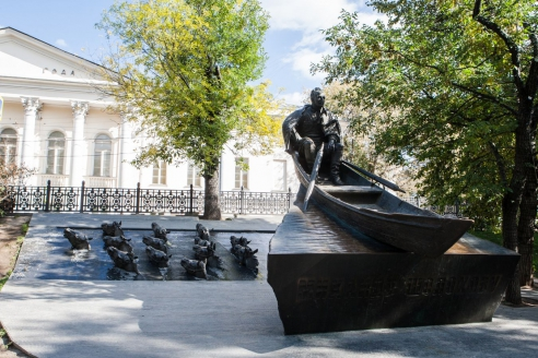 Памятник Михаилу Шолохову. Москва. 2007 г.