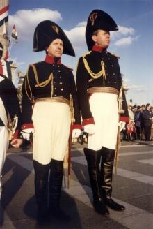Фельдъегеря Его Императорского Величества Александр Хандашков (слева) и Михаил Аликин