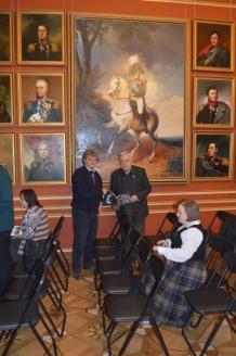 В каминном зале Дворца в Больших Вяземах, принадлежавших когда-то Борису Годунову - а с 17 века князьям Голицыным