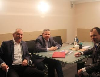 Н.Кузнецов, А.Мацкевич и В.Георгиу, 18 декабря 2017 года